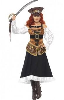 Disfraz Madame Pirata SteamPunk