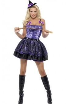 Disfraz Bruja Violeta Brillante Fever T. S