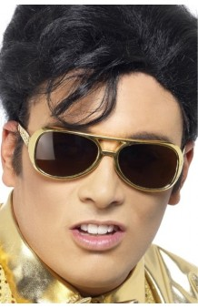 Gafas Doradas Elvis (Licensed)