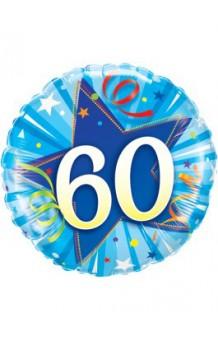"""Globo """"60"""" Estrella Azul, 46 cm."""