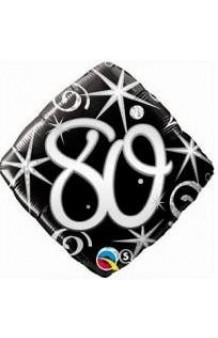 """Globo """"80"""" Ellegance Negro, 46 cm."""