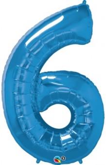 """Globo """"6"""" Azul, 102 cm."""
