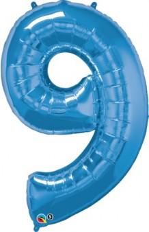 Globo Nº 9 Azul, 100 cm. AGOTADO.