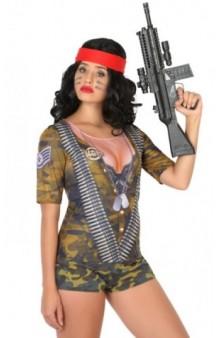 Camiseta Chica Militar