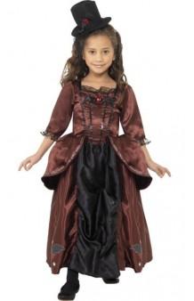 Disfraz Vampiresa Época Victoriana 10-12 años