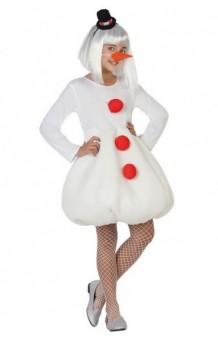 Disfraz Muñeco Nieve Chica