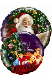 Globo Santa's Merry Christmas, 46 cm.