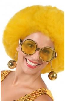 Gafas Disco Doradas