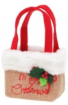 Bolso Merry Christmas, 18 cm.