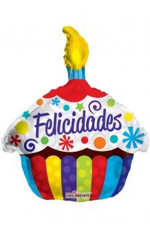 Globo Tarta Cumpleaños, 46 cm.