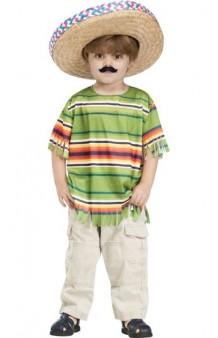 Kit Mejicano Infantil (Poncho + Sombrero)