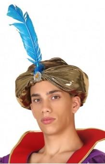 Turbante Árabe Dorado