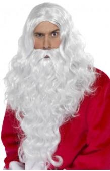 Peluca Papa Noel Larga + Barba