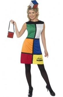 Disfraz Chica Cubo Rubik (Licensed)