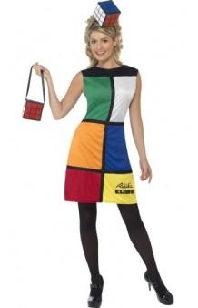 Disfraz Chica Cubo Rubik (Licensed) T. S