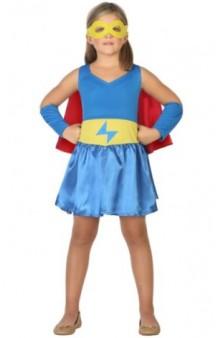Disfraz Superheroína Azul