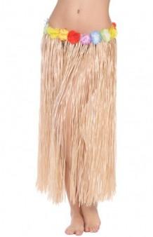 Falda Hawaiana Color Natural, 80 cm.
