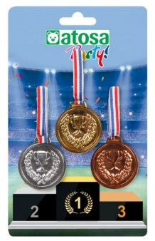 Kit 3 Medallas
