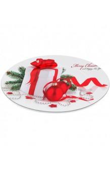 Plato Blanco Merry Christmas, 33 cm.