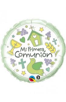 """Globo """"Primera Comunión"""", 46 cm."""