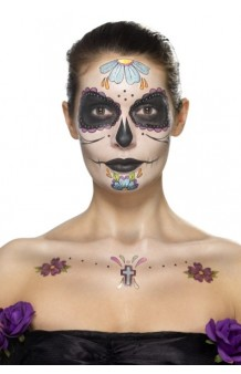 "Kit Maquillaje + Tattoos ""Day of the Dead"". AGOTADO."