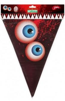 Banderines Ojos/Colmillos/Cerebro, 195 cm.