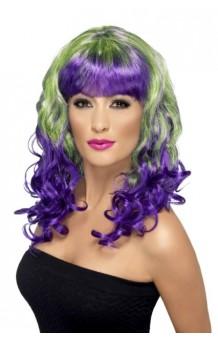 Peluca Gris/Púrpura Divatastic