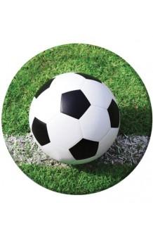 Platos Fútbol 23 cm., 8 uds.