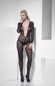 Bodystocking Fever Crotchless Lace. AGOTADO.