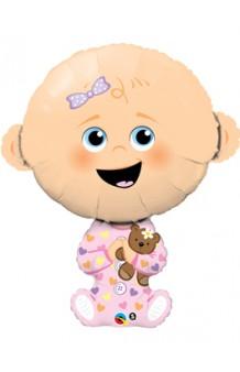 Globo Bebé Niña Rosa, 97 cm.
