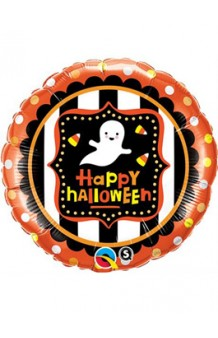 "Globo Fantasma ""Happy Halloween"", 46 cm."