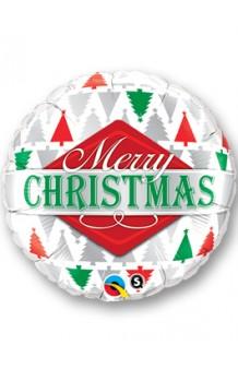 Globo Merry Christmas 3 Colores, 46 cm.