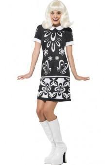 Disfraz Missy 60's Blanco&Negro