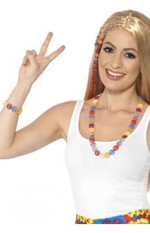 Kit Hippie Multicolor: Collar + Brazalete