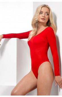 Bodysuit Rojo Manga Larga