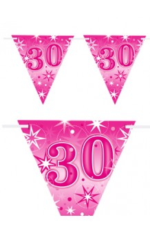 "Banderines ""30"" Rosas, 360 cm."