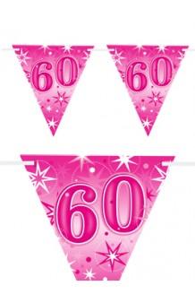 "Banderines ""60"" Rosas, 360 cm."