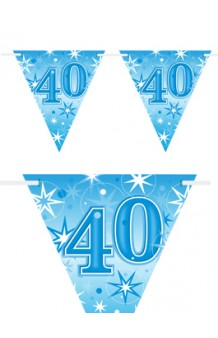 "Banderines ""40"" Azules, 360 cm."