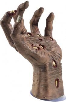 Mano Zombie Látex con Ventosa, 24 cm.