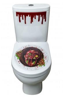 Decoración WC Adhesiva Halloween (2 piezas)