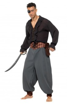 Pantalón Pirata Gris Adulto