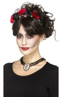 """Collar Calavera """"Day of the Dead"""""""