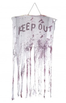 "Tela Colgante ""Keep Out"", 150 x 90 cm."