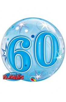 """Globo """"60"""" Azul Burbuja, 56 cm."""