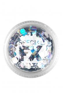 Confetti Glitter Plateado Maquillaje