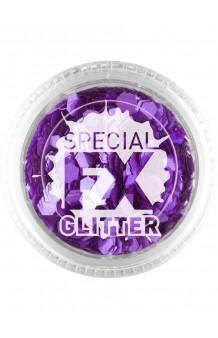 Confetti Glitter Morado Maquillaje