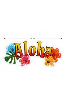 Cartel Aloha, 55 cm.