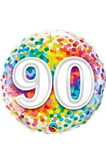"Globo ""90"" Rainbow, 46 cm."