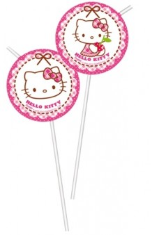 Pajitas Hello Kitty, 6 uds.