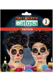 """Set Tatuajes """"Día de los Muertos"""""""